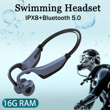New Swim Bone Conduction Headphones  Bluetooth Wireless Earphone 16GB MP3 Music Player Waterproof Earbuds Fitness Sport Headset