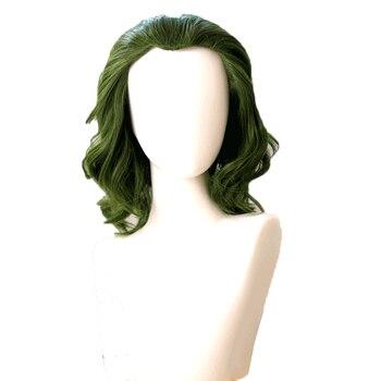 2019 film Joker przebranie na karnawał Batman Joker peruka Joaquin Phoenix Arthur Fleck Halloween kręcone zielone włosy syntetyczne dziewczyny
