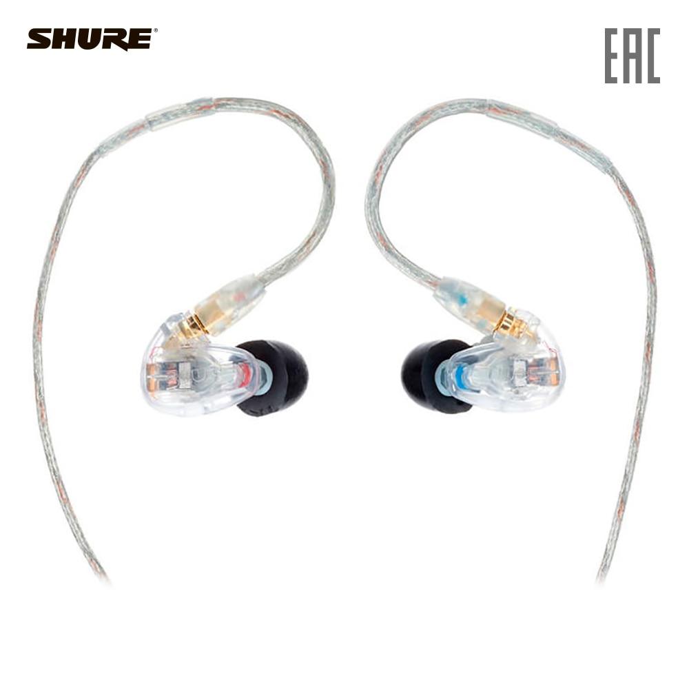 Earphones & Headphones SHURE SE315-CL-EFS Consumer Electronics Portable Audio Earphone Headphone headset for phone computer наушники shure se315 cl прозрачный