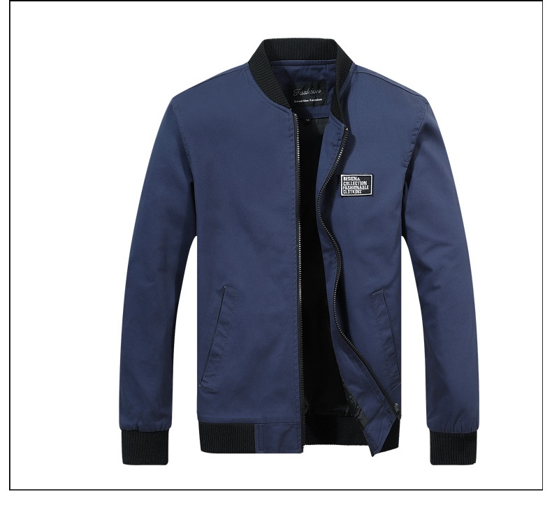 Hc7766f13fb5b4668a7ea852bd0f35cc0U 2019 Men Jacket Casual Cotton Washed Retro College Baseball Workwear Business Black Vintage Coat Male Spring Autumn Jacket Men