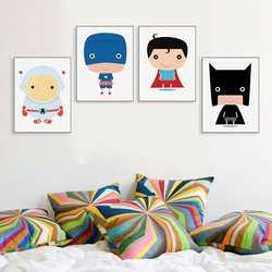 Новый стиль, Лидер продаж, современный минималистичный милый супергерой в европейском стиле, картина с Бэтменом Core, настраиваемая Детская