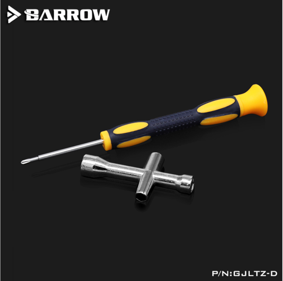 Barrow GJLTZ-D, Multi-function 2mm Screwdriver With 4 Size Sleeve Combination, Practical Tool Kit, For GPU And PC Hardware