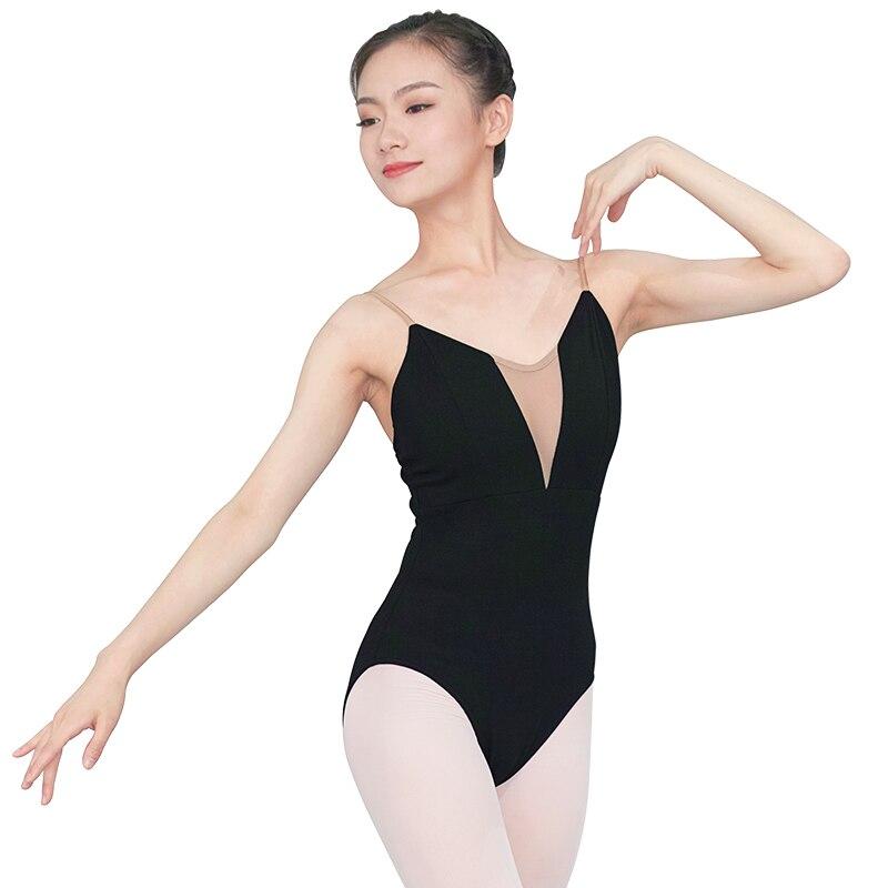 Image 4 - Women Girls Sexy Black White Ballet Dance Leotard Camisole Gymnastics Leotards Adults Bodysuit Swimsuit S,M, L,XL,XXL For WomenBallet   -