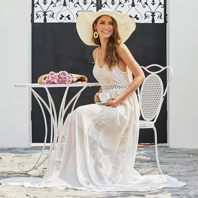 Lace Wedding Dresses 2020 V neck Sleeveless Wedding Party Bride Dresses Wedding Gowns Belt Travelling Women Dresses Dailou