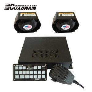 Громкая Автомобильная сигнализация (NMS200W), Полицейская пожарная сирена, конечная панель управления, 200 Вт, автомобильный усилитель, система ...