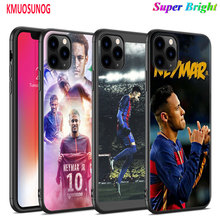 Black Silicone Case Soccer Player Neymar for iPhone 11 11Pro XS MAX XR X 8 7 6S 6 Plus 5S Gloss Phone Cover
