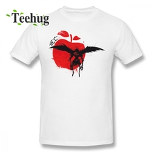 Men Funny Ryuuku Apple T Shirt  Anime Death Note Custom Cotton Tee