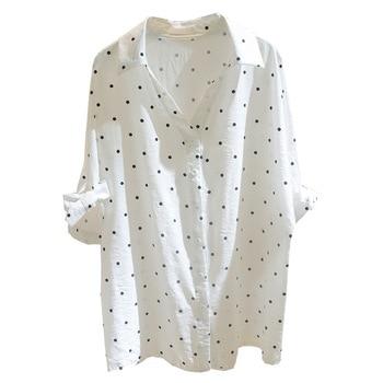5XL Plus Size Autumn 2019 Short Sleeve Casual Women Shirt Korean Shirt Elegant Slim Office Women Blouse Streetwear Ladies Tops 6