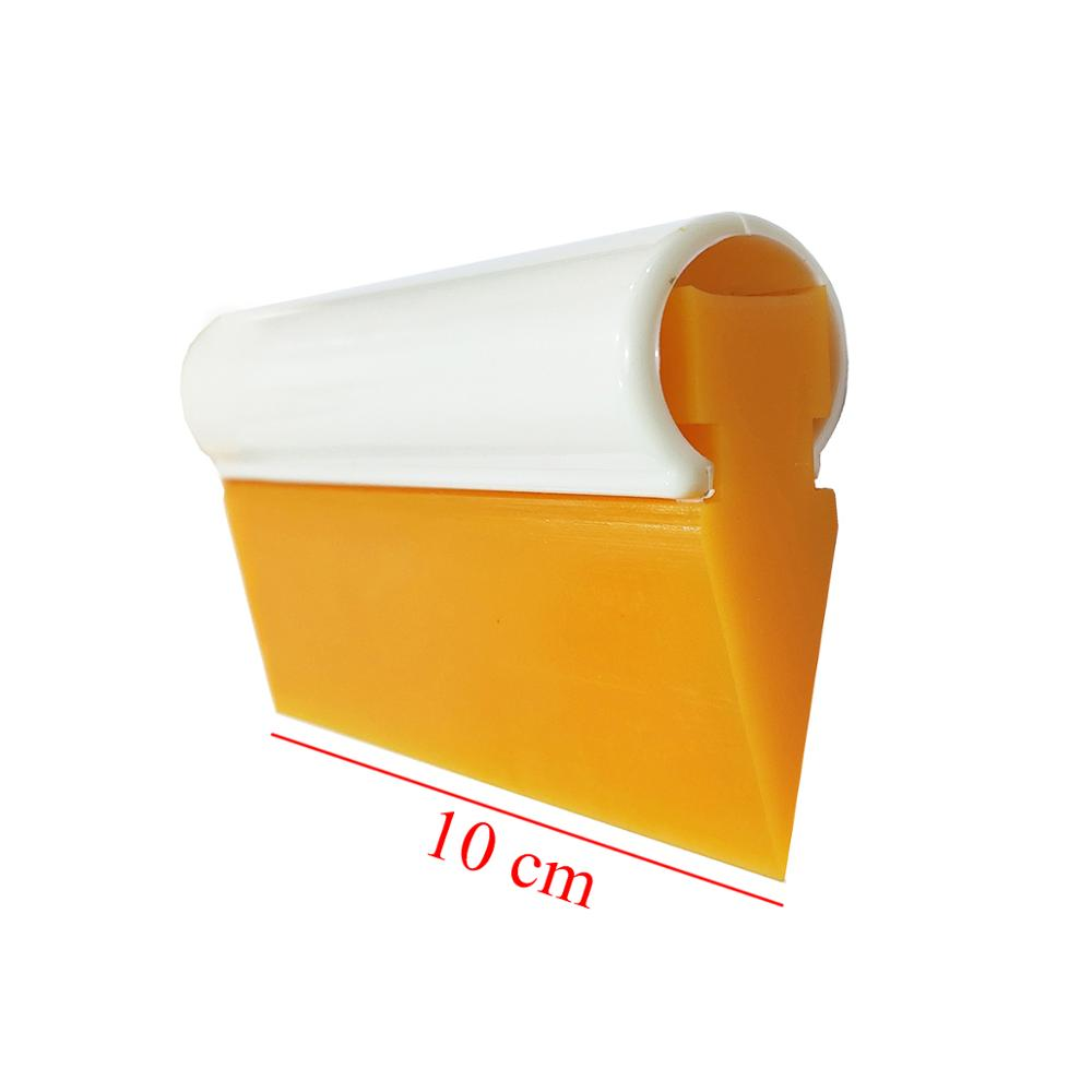 10CM Rubber Handle Yellow Turbo Squeegee Vinyl Film Car Wrap Tool Snow Shovel Scraper Window Cleaning Squeegees Professional B29