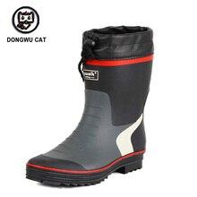 Мужские непромокаемые ботинки, мужские низкие резиновые ботинки, модная нескользящая резиновая обувь, водонепроницаемая обувь, уличная ры...