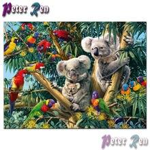 5d алмазная картина с животными вышивка крестом дерево медведь