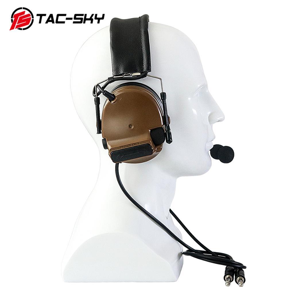 Купить с кэшбэком TAC-SKY COMTAC III Silicone Earmuffs Double Pass Edition Outdoor Hunting Sports Noise Reduction Pickup Tactical Headset - CB
