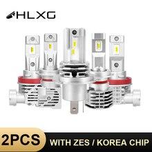 HLXG Mit ZES/Korea CSP chips H4 h7 led lampe 9005 HB3 LED 9006 HB4 Lampe auto scheinwerfer h11 h8 H9 Nebel Licht 6000k