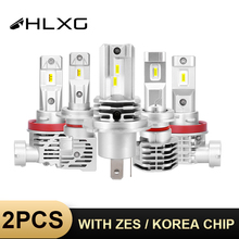 HLXG puces CSP ZES/coréennes H4 h7 led ampoule 9005 HB3 LED 9006 HB4, phare de voiture h11 H8 H9, 6000k