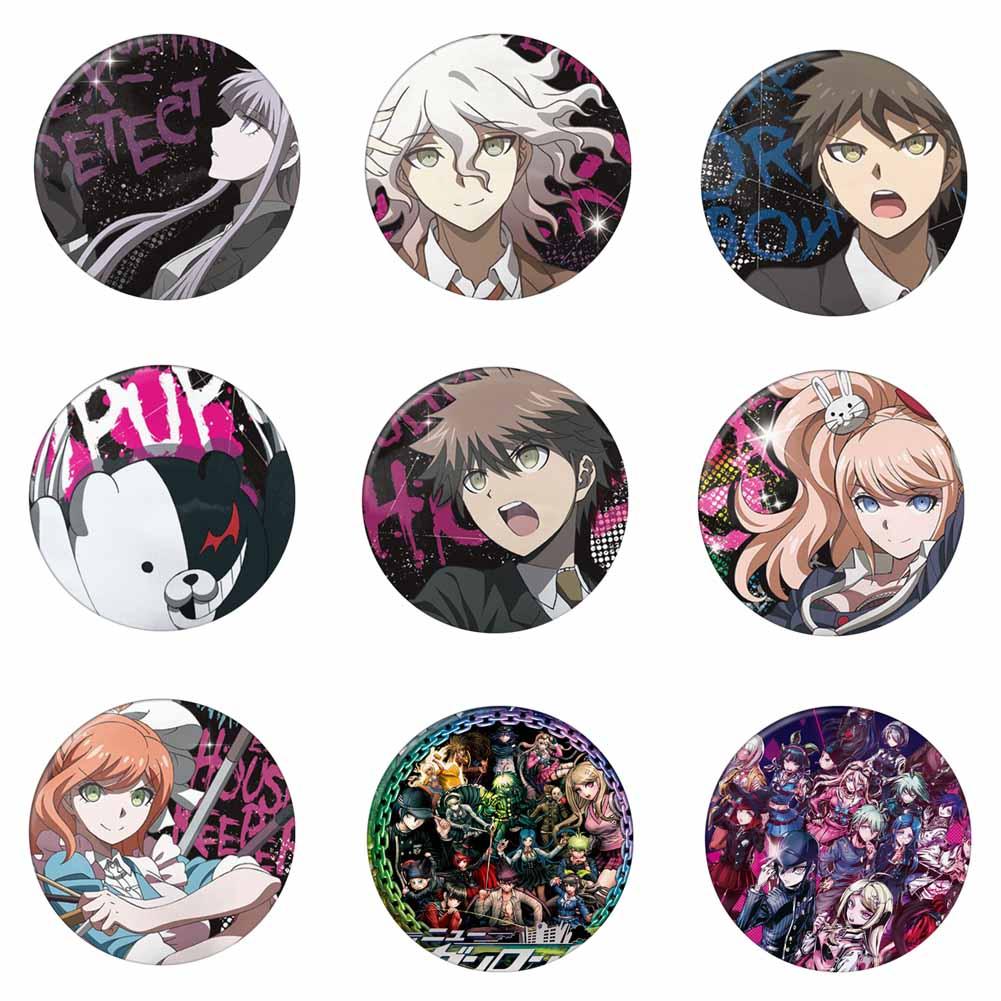 Game Keychains Anime Danganronpa Badge Pins Brooch Costume Backpack Decor