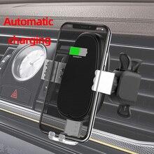 CDEN Auto sensing cargador inalámbrico de teléfono móvil soporte de teléfono móvil cargador de móvil de carga rápida QC3.0