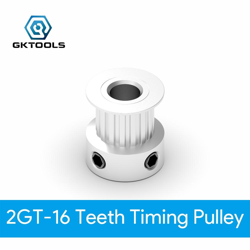 GT2 16T 20T Aluminum Timing Belt Pulley 5//6.35//8mm NEMA 17 RepRap 3D Printer CNC