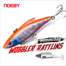 Noeby Wobblers Rattling Fishing Lure 90mm 32g Sinking Crankbaits Vibration Artificial Hard Bait for Pike Trout Sea Fishing Lure