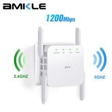 5G WiFi Repeater Wireless WiFi Amplifier 5Ghz WiFi Long Range Extender 1200M Wi Fi Booster Home Wi-Fi Internet Signal Amplifier
