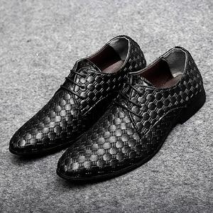 Image 1 - 2020 גברים נעליים יומיומיות עור אופנה נעלי מארג עסקי שרוכים נעלי פנאי נעלי לשכת קלאסי קלה נעליים