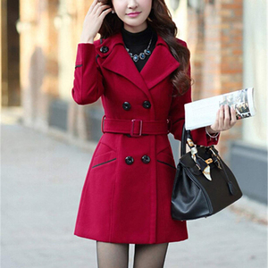 Image 3 - ZOGAA Brand Womens Wool Coats Autumn Fashion Long Trench Coat Women Warm Clothes Slim Fit Blends Solid Woolen Overcoat