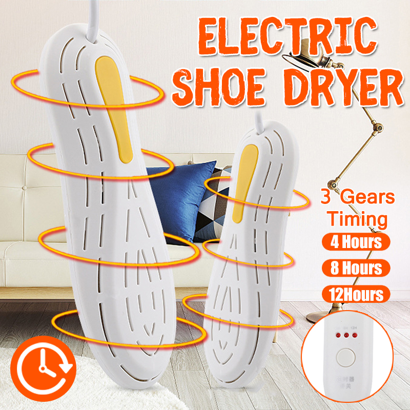 Electric Shoe Dryer Heater With Timer Race Car Shape Boot Shoe Rack Odor Deodorizer Dehumidify UV Germicidal Device