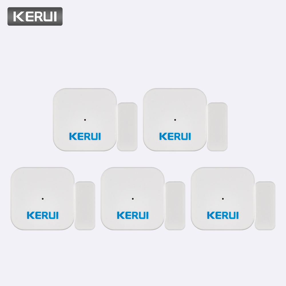 KERUI 5ps D028 Smart Home Security Portable Anti-Tamper Burglar Alarm Window Door Sensor Detector Alarm System Controller