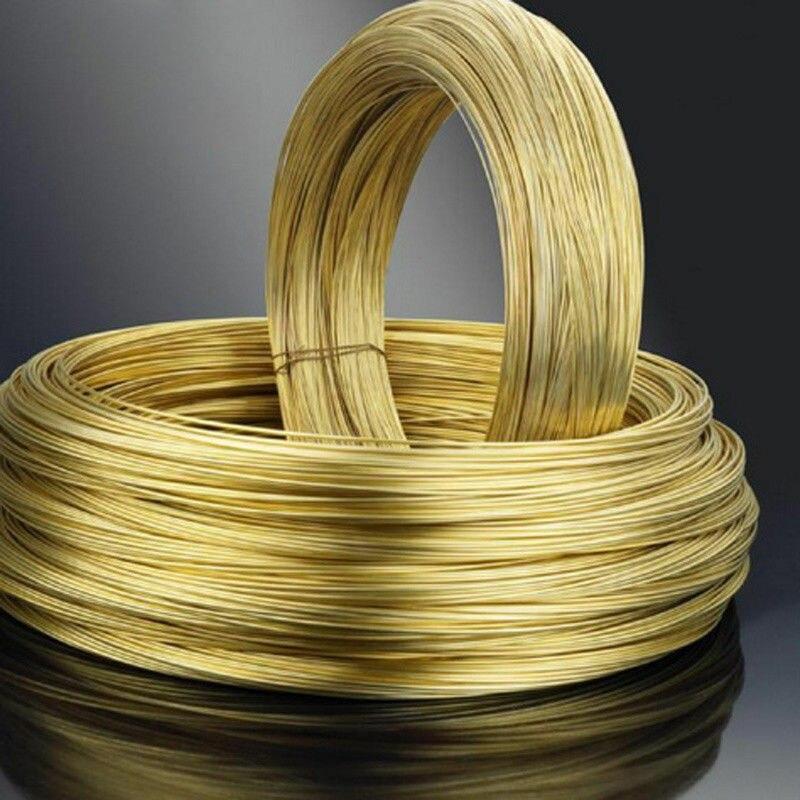 Мягкая латунная проволока 0,5 мм, 0,6 мм, 0,8 мм Dia для изготовления ювелирных изделий своими руками