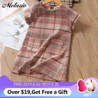 Melario Mädchen Kleid 2019 Neue Marke Mädchen Kleidung Europäischen Und Amerika Stil Kinder Kleidung Plaid Tasche Design Baby Mädchen Kleid