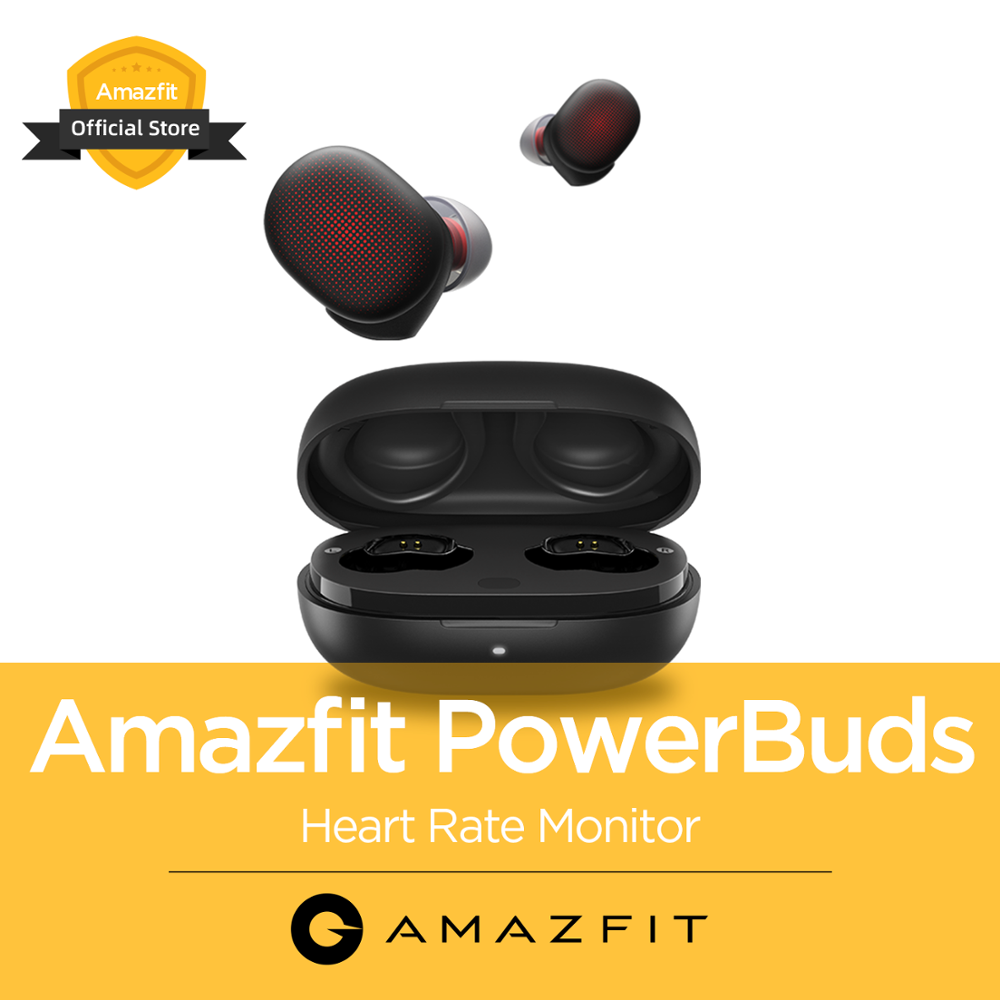 Original NEW Amazfit Powerbuds TWS Wireless Headphones Earhook Sports Heart Rate Monitor Earphones Bluetooth For IOS Android