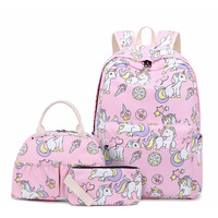 Waterproof Children School Bags for Girls Unicorn school Backpacks Boys Printing Backpacks set Schoolbag kids mochila infantil