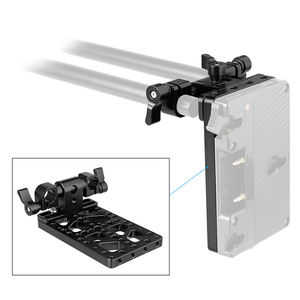 Image 5 - Backboard Cheese Plate with 360° Swivel 15mm Rod Clamp for Anton Bauer Gold Mount Power Adapter C2194