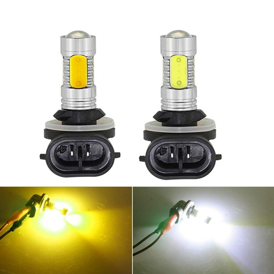 NHAUTP 2 шт. H27W2 H27W/2 880 881 Светодиодный светильник тумана высокого Мощность COB 7,5 Вт Автомобильный светодиодный Противотуманные фары DRL белого и ж...