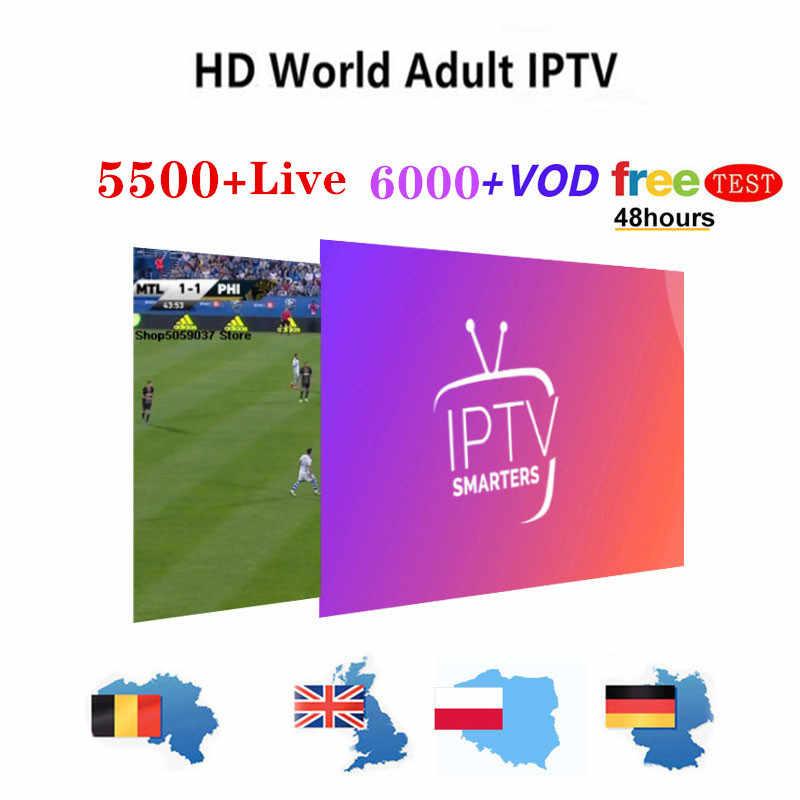 Stabiele IPTV Spanje Abonnement 4 K IPTV M3U Frankrijk Volwassen Kanalen IPTV Portugal 1 Jaar Abonnement voor Smart TV Android T