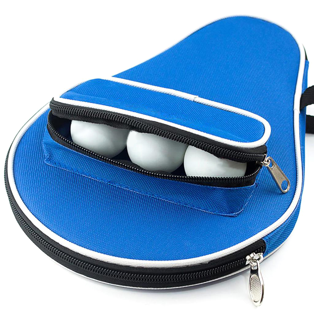 Professional Table Tennis Rackets Case Bat Bag Oxford Ping Pong Cover Holding 3 Balls