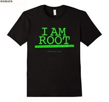 Camisetas informales de talla grande, camisetas de estilo Hip Hop, camiseta S-2xl I'm Root, camiseta de Linux By camiseta de Linux sbz1122