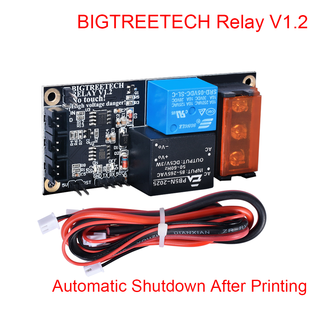 Bigtreetech Relay V1.2 Module Automatic Shutdown Module After Printing To BIQU Thunder For CR10 Printer Reprap 3D Printer Parts