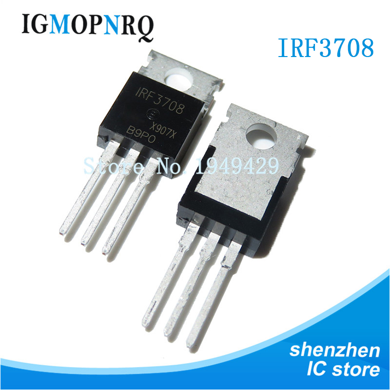 10PCS IRF3708PBF TO-220 IRF3708 TO220 30V 62A New Original