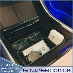 Image 2 - 車の中央コンソールテスラモデル3 2017 2018 2019 2020インテリアアクセサリー収納収納ボックス
