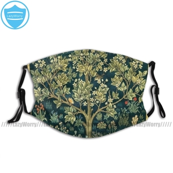 William Morris Fabric Mouth Face Mask Tree Of Life By William Morris Facial Mask Nice Adult Fashion Mask недорого