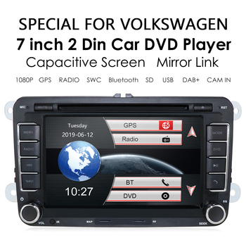 2 Din Car Autoradio Player for VW Golf 5 Passat B6 CC for SEAT Leon Tiguan for Skoda Octavia for POLO SWC RDS Multimedia GPS image