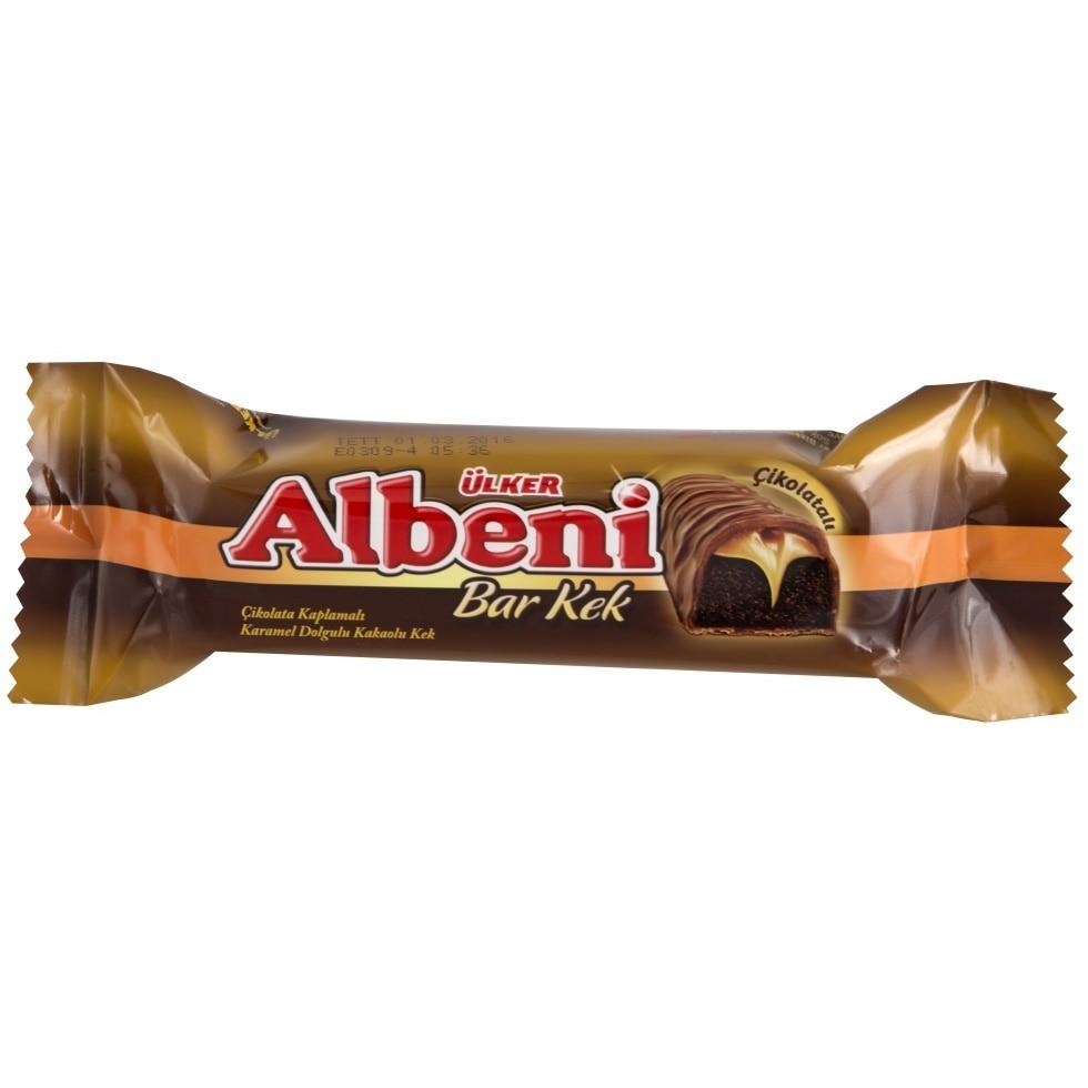 Ulker Albeni Milk Chocolate Coated Bar Caramel Biscuit Turkish Halal