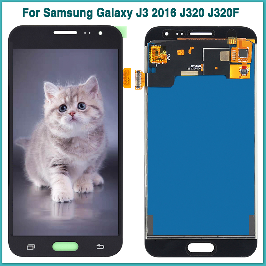 Neue <font><b>J320</b></font> <font><b>LCD</b></font> <font><b>Touch</b></font> Panel Für Samsung Galaxy J3 2016 <font><b>J320</b></font> J320F <font><b>LCD</b></font> Display Touchscreen Digitizer Sensor Montage Ersatz image