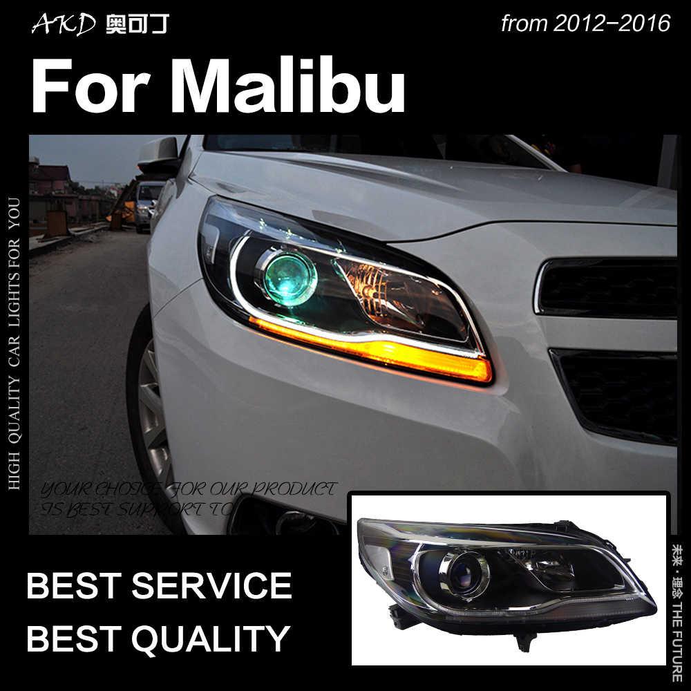Akd Auto Styling Hoofd Lamp Voor Chevrolet Malibu Koplampen 2012-2016 Malibu Led Koplamp Drl Hid Bi Xenon Auto accessoires