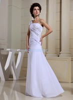 free shipping 2016 formal dress maxi dresses long one shoulder new design brides maid dress custom party white evening Dresses