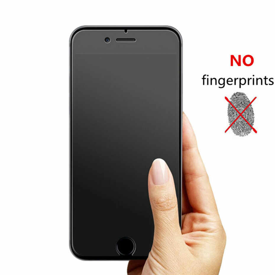 Không Bám Vân Tay Bảo Vệ Màn Hình Trong Cho iPhone 8 7 6 S X XR XS Max Mờ Kính Cường Lực Trên iPhone 11 Pro 7 plus 5 5S SE Màng Bảo Vệ