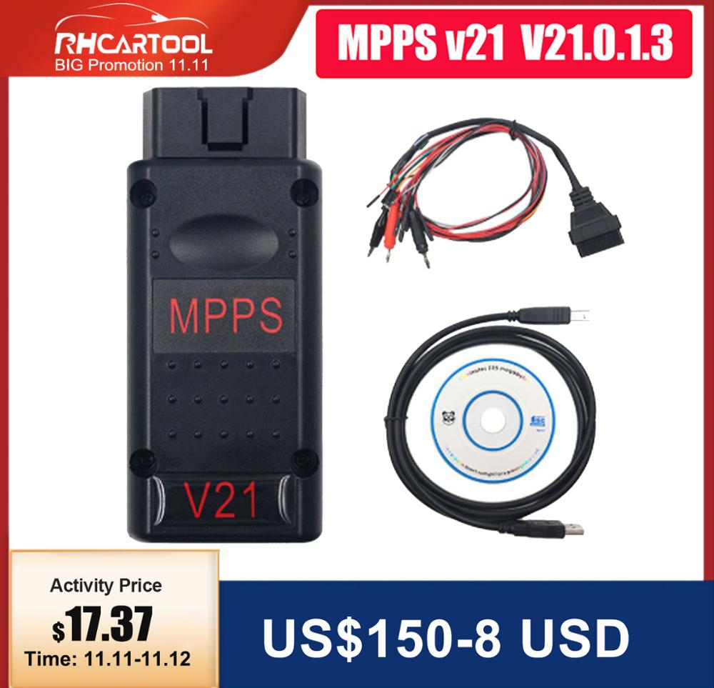 OBD2 Car MPPS V21 ECU Chip Tuning Tool for EDC15 EDC16 EDC17 Inkl Checksum Lastest Version mpps 21 ECU Flasher best mpps v18 v16