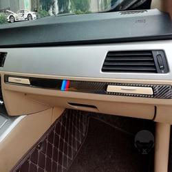 Cup Holder Panel Strip Carbon Fiber Passenger Trim Easily Installation Personal Car Element for BMW E90 E92 E93 2005-2012