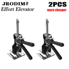 JRODIM Labor Saving Arm Lift Cabinet Jack Gypsum Board Repair Aluminum Manual Tool Door Use Board Plaster Sheet Lifting Cranes