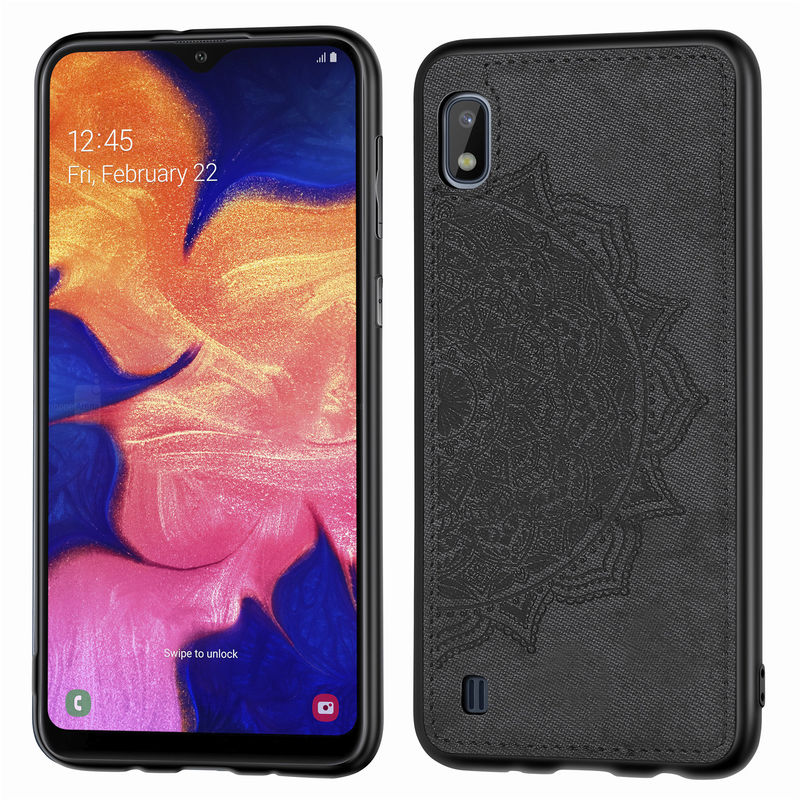 For SamSung Galaxy A10 Case Fashion Fabric ClothBack Cover For SamSung A10 A105F A105G A105M <font><b>A105FN</b></font> Soft Silicone Cover Cases image
